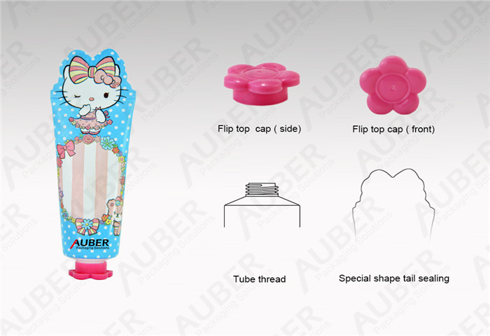 Aluminum Hand Cream Cosmetic Packaging Tube