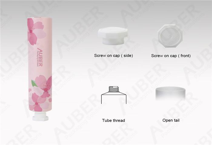 D25mm Sakura Hand Cream Aluminum Laminated Tubes Manufacturer With Srew On Cap