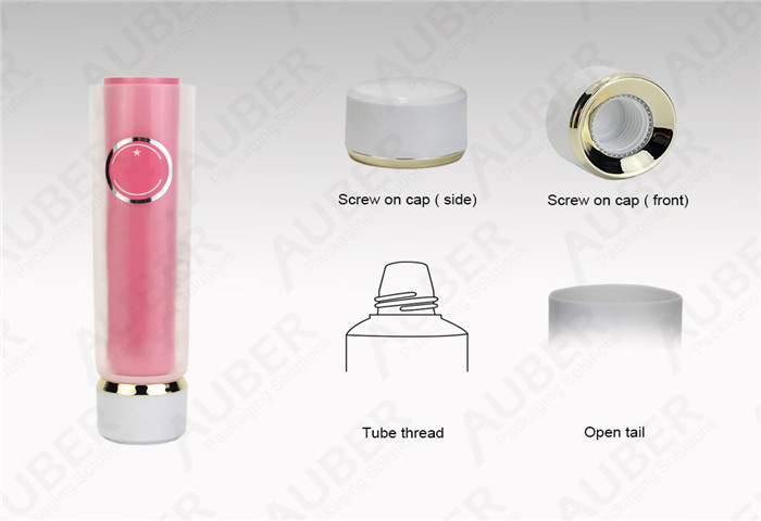 D35mm Tube in Tube Cosmetic Packaging with Screw on Cap