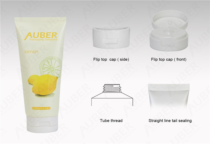D50mm Plastic Laminated Tube ( PBL ) for Lotion with White Flip Top Cap