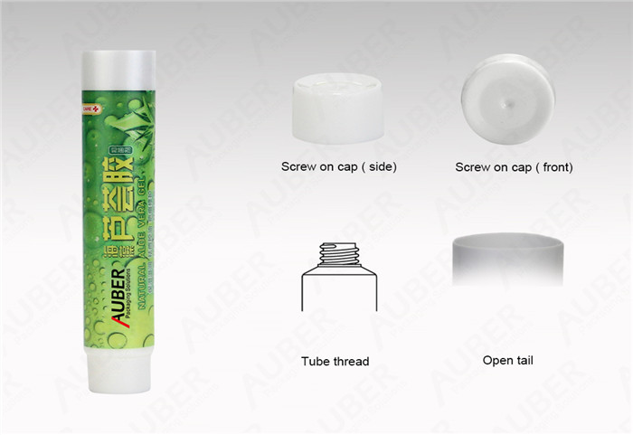 D19mm Squeeze Tubes Wholesale for Aloe Vera with Screw On Cap