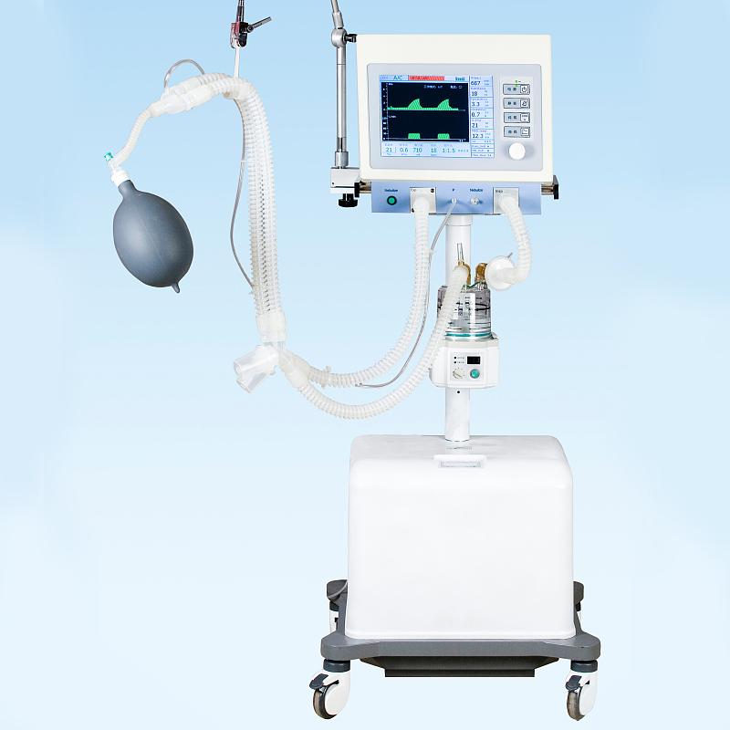 جهاز التنفس الصناعي ICU مع ضاغط