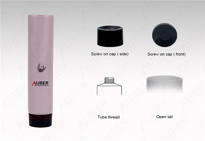 D25mm Pink Hand Cream Tube Wholsale with Black Screw On Cap