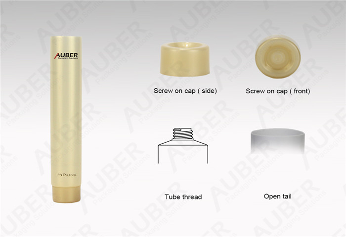 D22mm Yellow Pearl Soft Tube Packaging with Screw On Cap