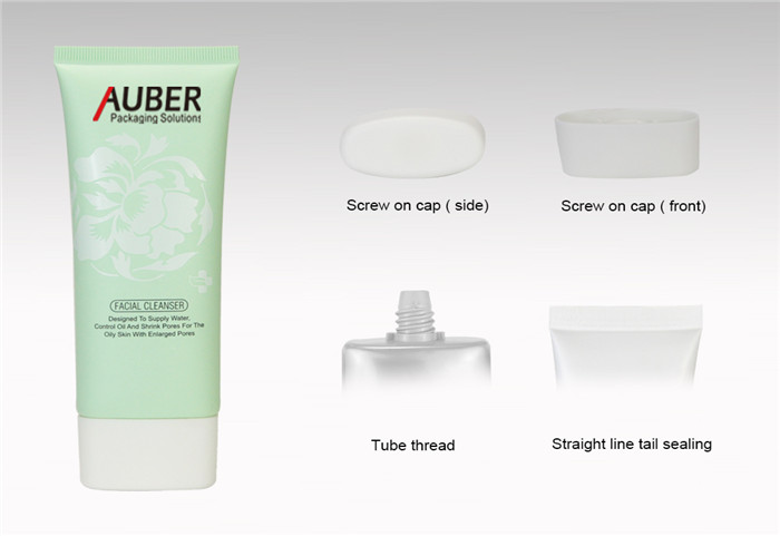 D40 Oval Squeeze Tubes for Facial Cleanser