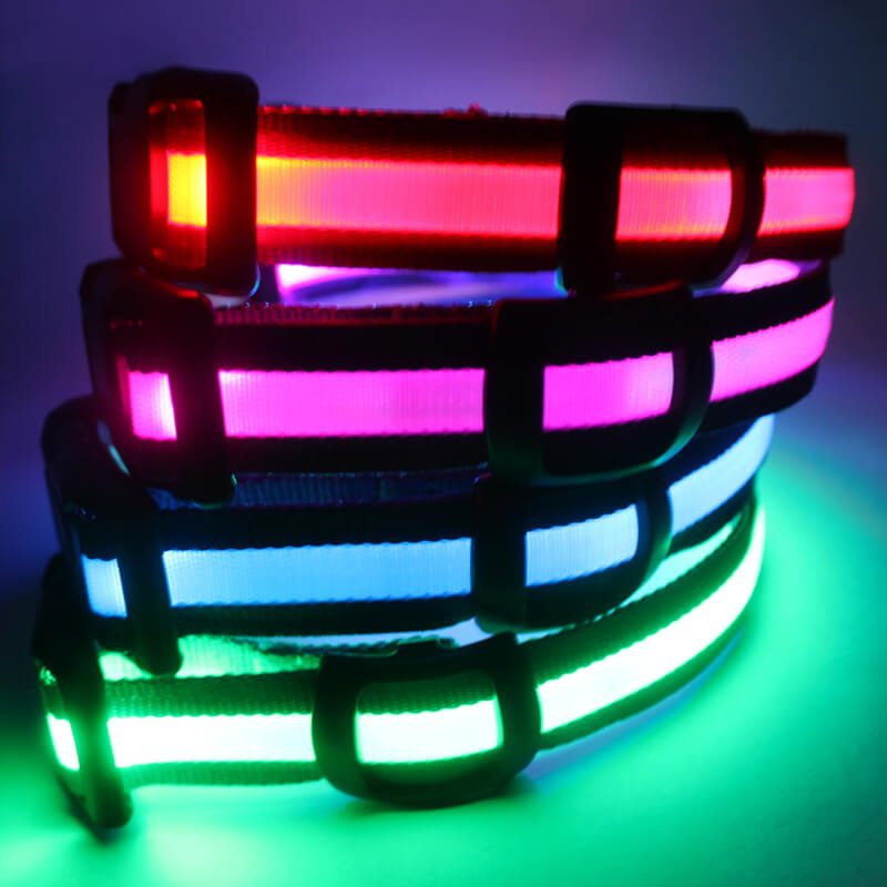 Flashing Dog Collars: New Style Nylon Flashing Dog Collars Wholesale-QQpets