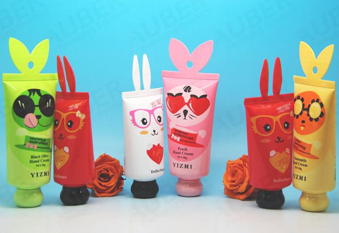 Bear shaped cosmetic tube for children