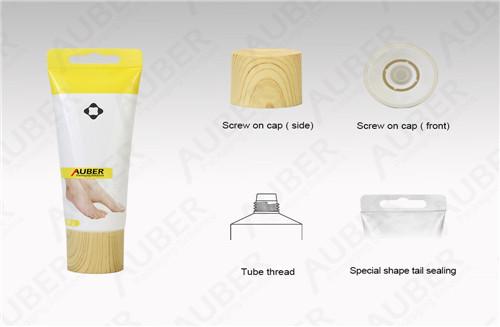 D40MM مخصصة شكل التغليف البلاستيك مصنع مع غطاء نسيج خشبي
