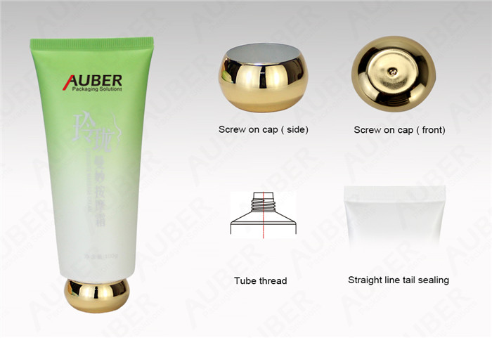 D40 Facial Cleanser Tube with Metalized Screw On Cap