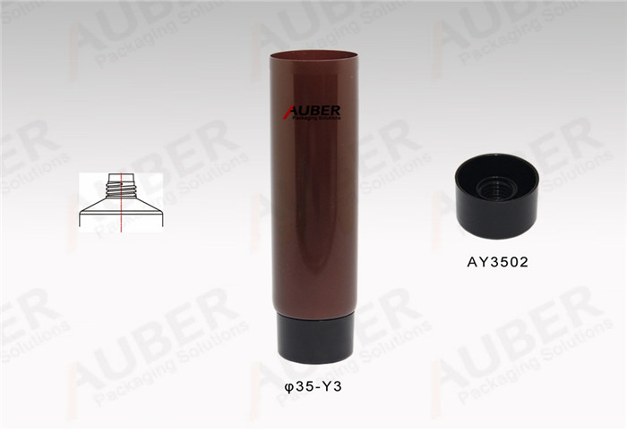 Customized D35mm Makeup Tubes with Black Screw On Cap