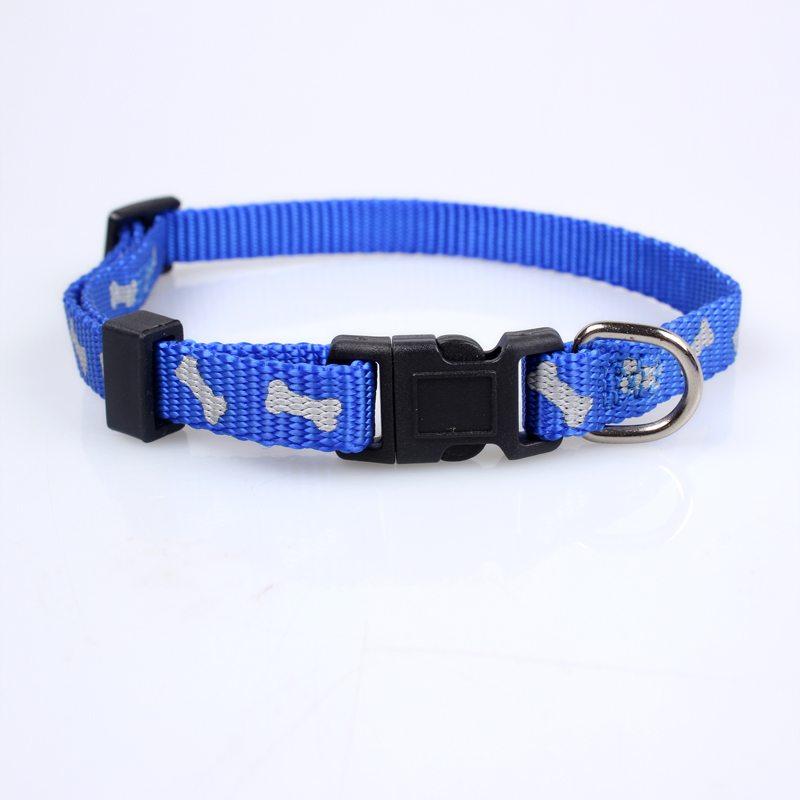 Adjustable Dog Collar: Nylon Silk Screen Printed Dog Collar Factory-QQpets