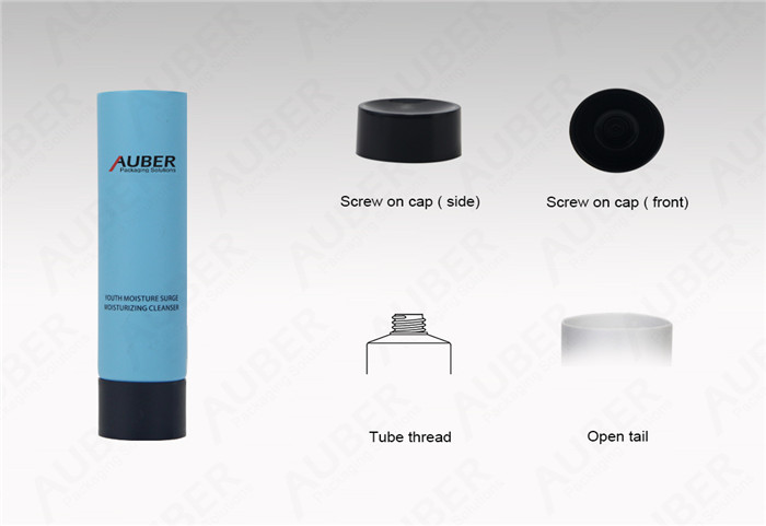Auber D25mm Blue Squeeze Tubes For Cleanser With Black Screw on Cap