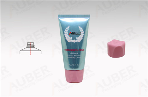 Metal Squeeze Tube in Dia 40mm with Screw On Cap for Whitening Facial Cream