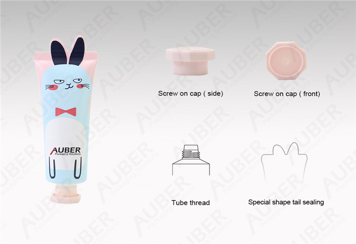 D30mm Rabbit Shape Tube Cosmetic Packaging with Screw Cap