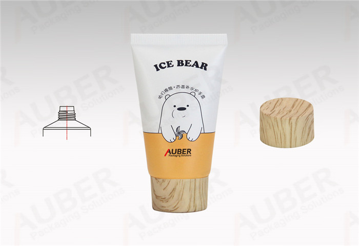 D35mm Plastic Laminated Hand Cream Tubes with Wood Texture Screw On Cap