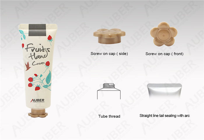 D30mm Lovely Cosmetic Packaging Tubes with Flower Screw on Cap