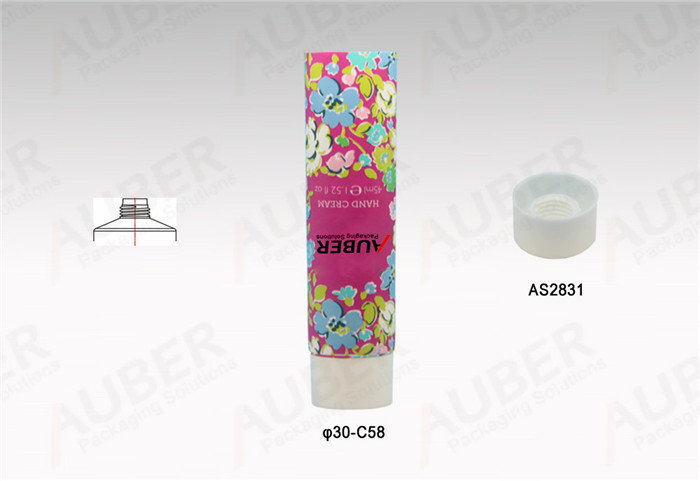 D30mm Colorful Polyfoil Tubes with Screw On Caps