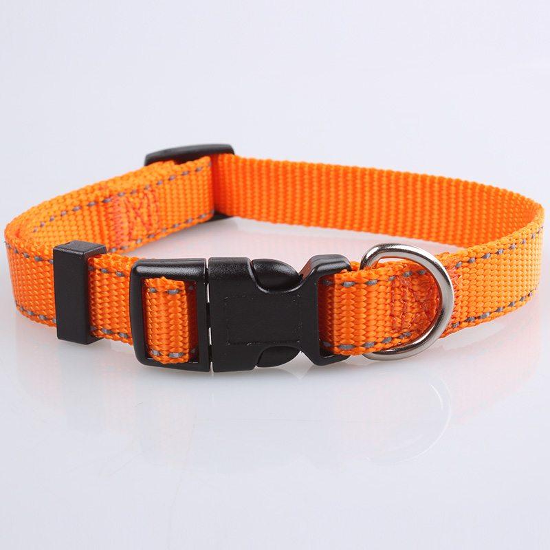 Factory Direct Reflective Dog Collar: Nylon Reflective Dog Collar-QQpets