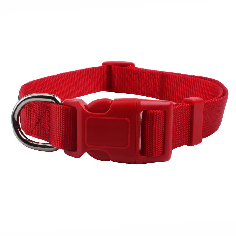 Red dog collars for sale: Nylon ribbon pure color large to small-QQPETS