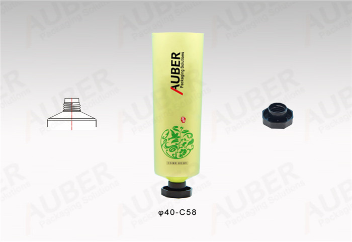D40mm Round Skincare Tubes with Black Octagonal Caps