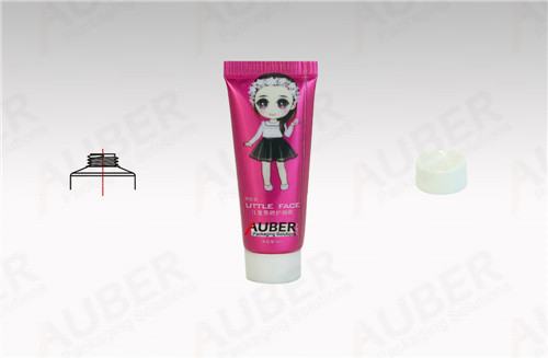 Dia.16mm Metal Cosmetic Tube for Children Facial Product with White Screw On Cap