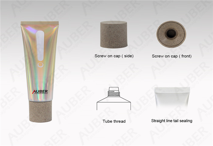 Auber D40mm High Glossy Tube for Whitening Cream with Biodegradable Cap