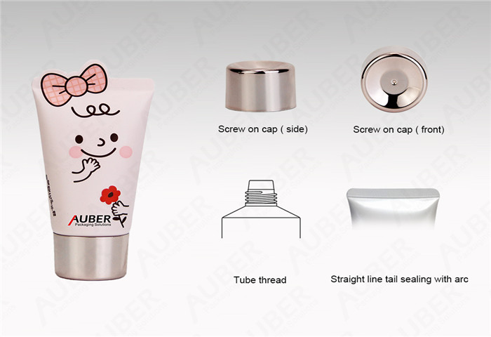 D35 Tube Packing of Cosmetics with Metallic Screw On Cap