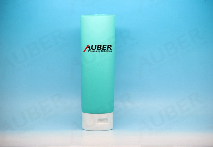 D50mm Cyan Round Cosmetic Tube Packaging with Screw On Cap