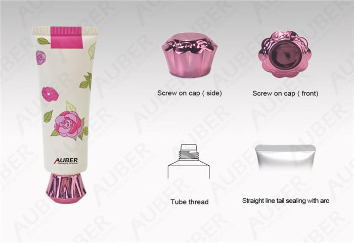 Rose Cosmetic Tube Packaging