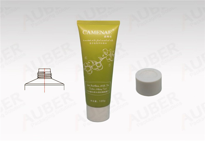 D40mm Plastic Cosmetic Tube for Facial Mask with White Glossy Cap