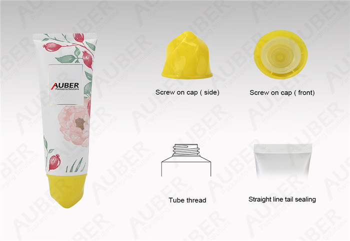 D40mm Facial Cleanser Cosmetic Packaging Wholesale with Ice Cream Screw On Cap