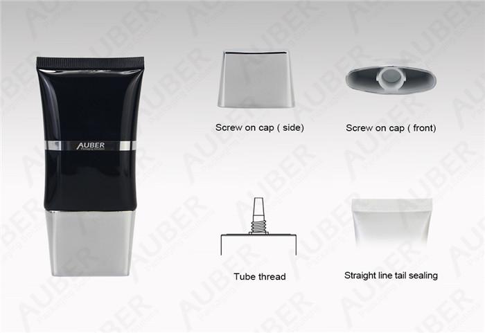 D35mm Oval Cosmetic Tube BB Cream Metallized Screw On Cap