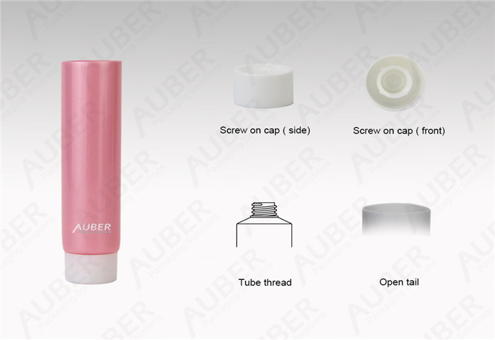 D22mm Pink Custom Cosmetic Packaging With Screw On Cap