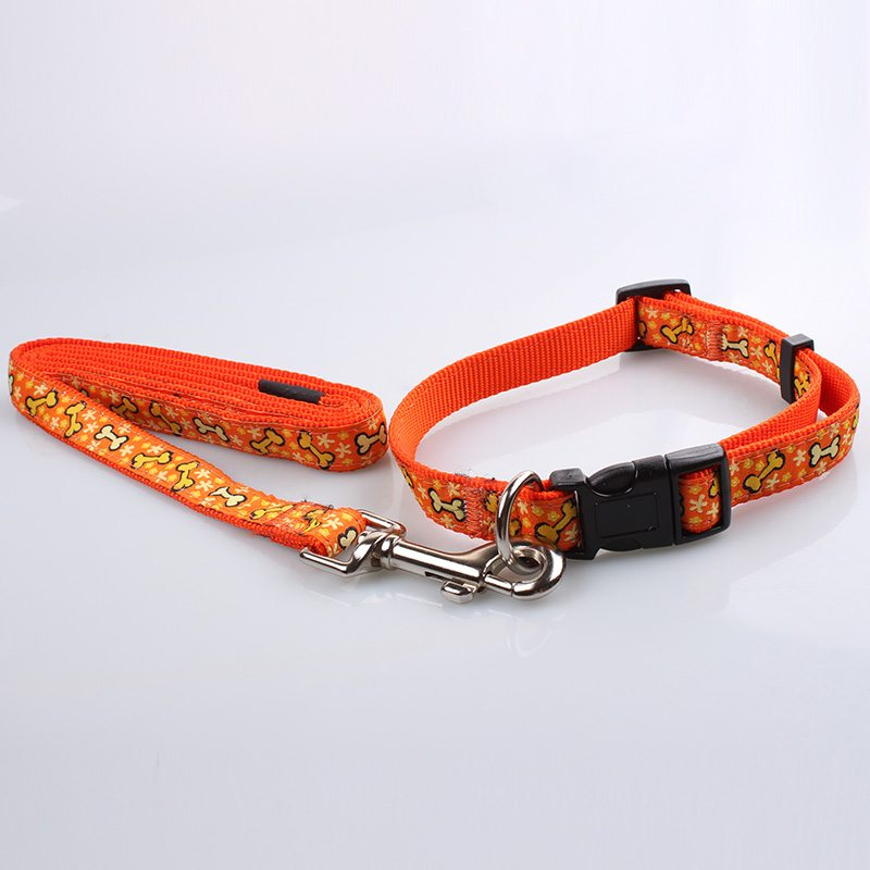 Custom Dog Collar Leash: Jacquard Ribbon Dog Collars Leashes Suppliers-QQpets