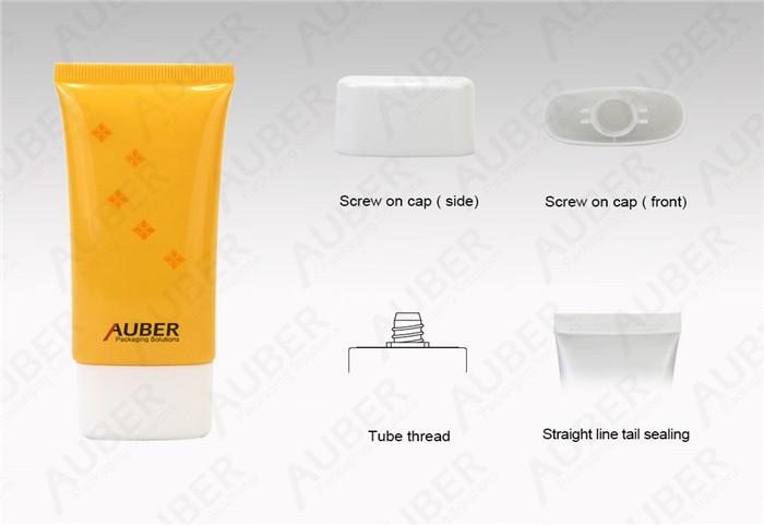 Super Oval Sun Screen Plastic Cosmetic Tubes