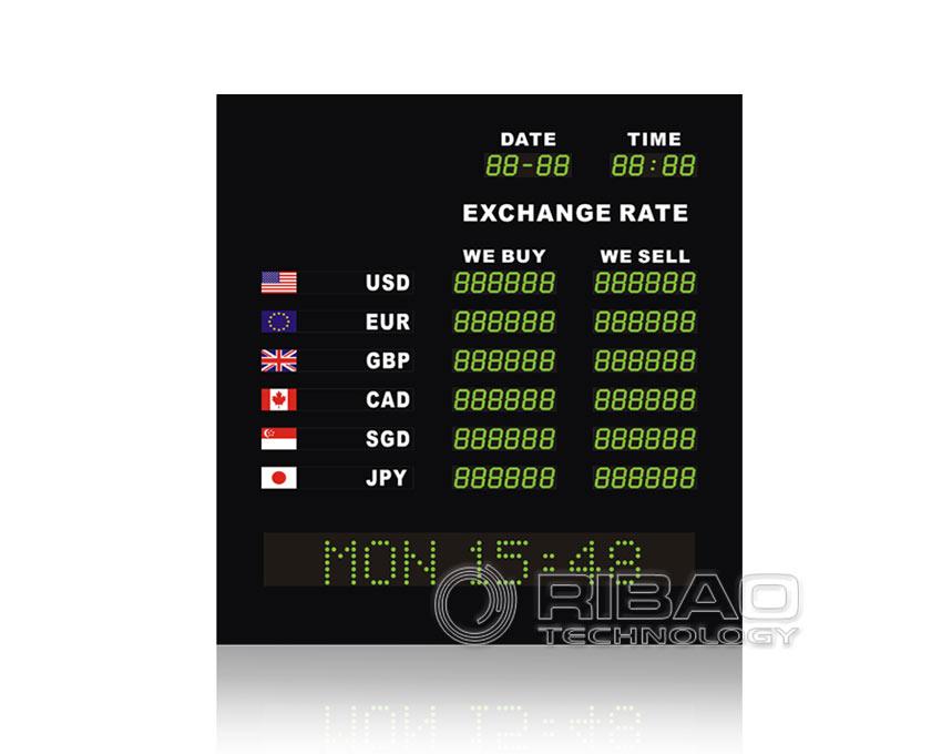 Conseil de taux de change avec signe mobile ERB-2806B + MS-NF
