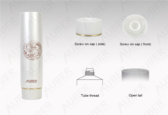 D40mm Pearl Recyclable Cosmetic Packaging With Screw On Cap