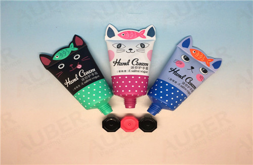 D35mm Cat Shaped Skincare Plastic Tubes with  Octagonal Caps