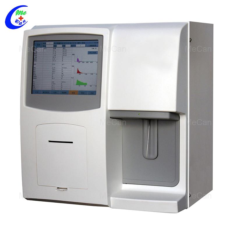 Bloedtoetslaboratoriumtoerusting CBC-analise-masjien 3 onderdele 23 Parameter Oopstelsel Menslike hematologie-analiseerder Bloedseltelling