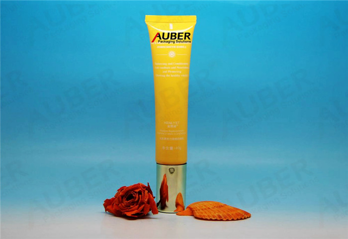 D25mm Yellow Airless Pump Tube Packaging for Eye Products