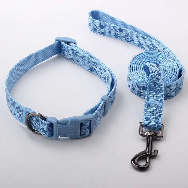 大型犬の首輪と鎖の工場供給:ナイロンシルクスクリーン印刷犬の首輪と鎖の工場