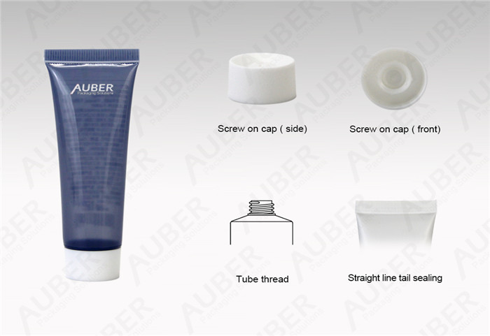 D25mm Semi-Clear Hand Cream Tube With White Screw On Cap