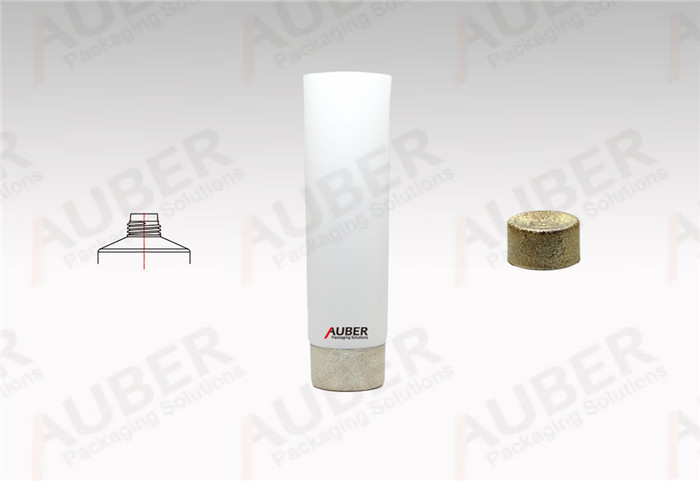 D40mm white Plastic Laminated Tube with Golden screw on cap