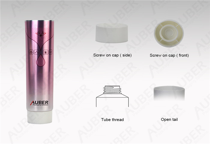 D40mm Pink High Glossy Squeeze Tube With Screw On Cap