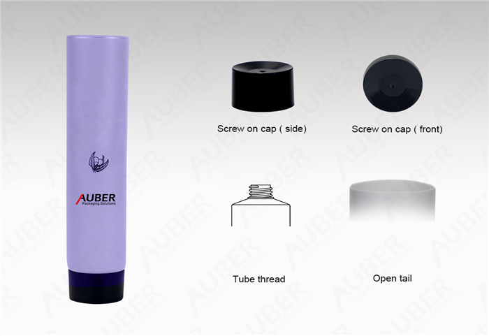 D25mm Purple Hand Cream Tube Suppliers with Black Screw On Cap
