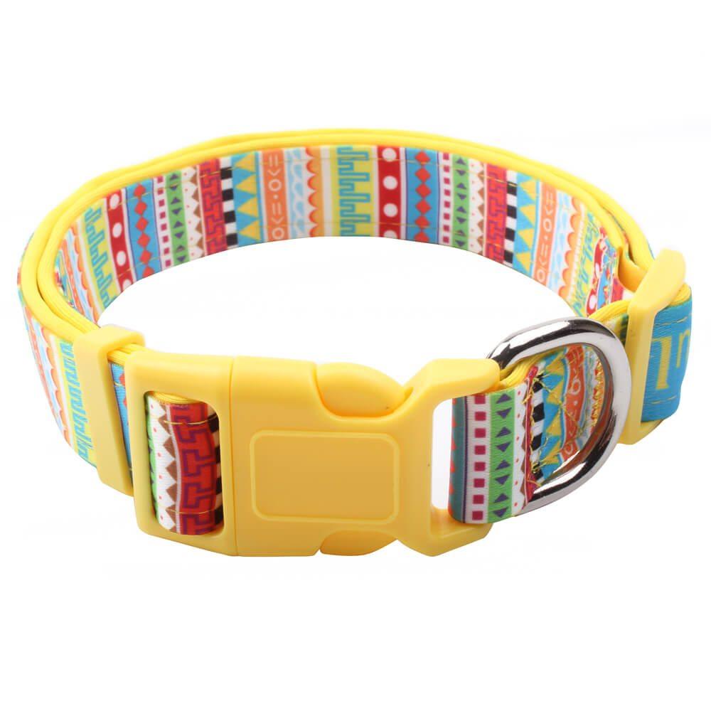 Nouveau collier de chien: Colliers de chien rembourrés en polyester avec logo coloré Supplies-qqpets