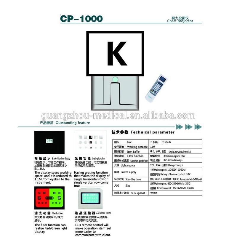 MCE-CP-1000 Oftalmiese projektor