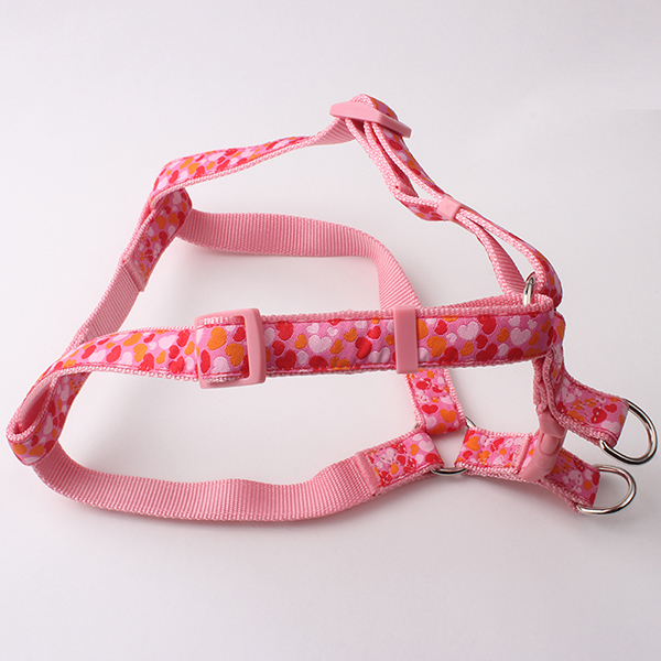 personalized pink dog harness