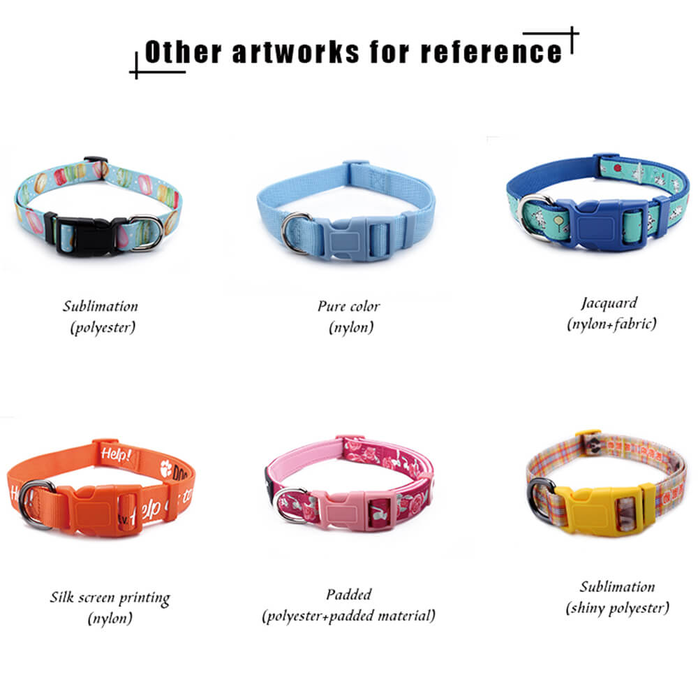 dog collars with different crafts