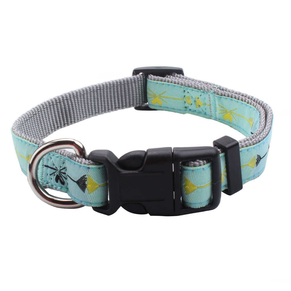 Bulk Dog Collar: Promotion Nylon Dog Collars With Jacquard Logo Supplies-qqpets